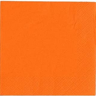 Thali Outlet® - 250 x Orange 2 Ply 33cm 4 Fold Paper Napkins Tissue Serviettes For Birthdays Weddings Parties All Occasions