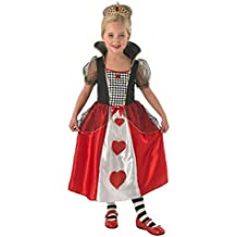 Rubies Reina de Corazones - Niños Disfraz - Grande - 128cm