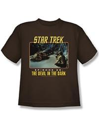 Star Trek - St / Devil In The Dark Youth T-Shirt In Coffee