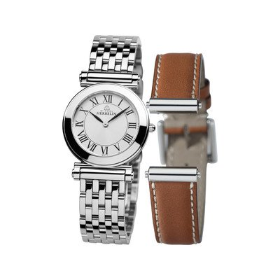 Michel Herbelin Set 17443 Antarès with Release Bracelet Women's Watch Set Silver/B01GO