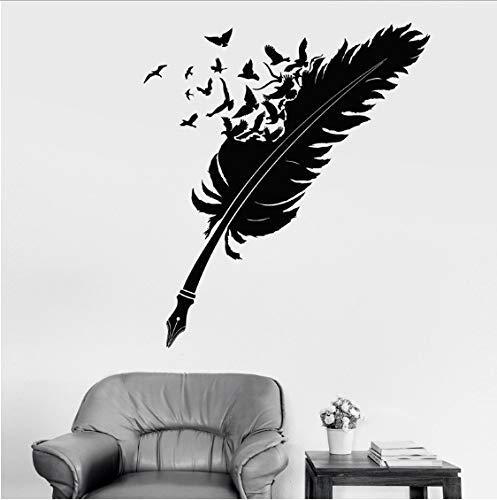 eber schreibfeder federvögel Raben Schriftsteller DIY Dekoration Wohnzimmer Schlafzimmer Studie Kunst wandbilder 48x43 cm ()