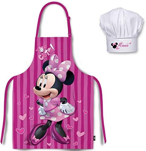 Juego Delantal Gorro Set Chef Cocina Infantil, Minnie