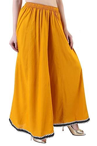 Pantalón palazzo amarillo mostaza para mujer