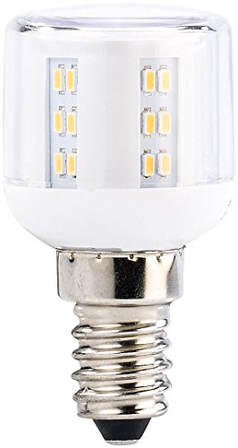 Luminea Kühlschranklampe: Mini-LED-Kolben, E14, A+, 3 W, 360°, 260 lm, warmweiß (LED Kühlschranklampe) - Kreisförmige Lampenschirme