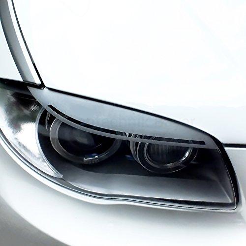 Preisvergleich Produktbild Folientechnik Bayer - 1006 Set LCI Scheinwerferblenden für die Frontscheinwerfer (Fahrzeugspezifisch, Fahrer- und Beifahrerseite, Einfarbig, bis Bj.: 2011) (Schwarz)