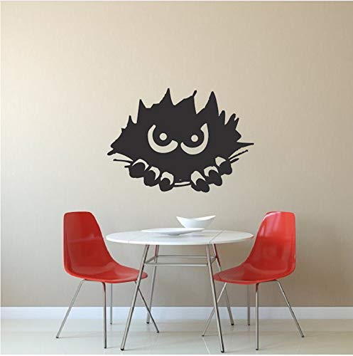 Hwhz Monster Spähen Wandsticker Home Kindergarten Schlafzimmer Halloween Vinyl Wall Decal Spähen Monster Silhouette Wandbild