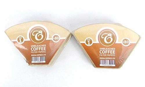 EDESIA ESPRESS - Kaffee-Filtertüten - ungebleicht - Größe 1-160 Stück
