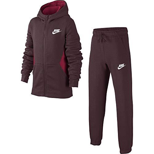 Nike B NSW TRK BF Core Chándal, Niños, Rojo/Blanco (Burgundy Crush), M