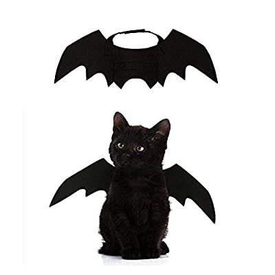 Crewell Halloween Props Pet Dog Cat Bat Wing Cosplay Prop Halloween Vampire Bat Fancy Dress Costume Outfit Wings by Crewell