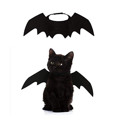 (Crewell Pet Dog Cat Fledermaus Flügel Cosplay Prop Halloween Fledermaus Vampir Kostüm, Flügel)