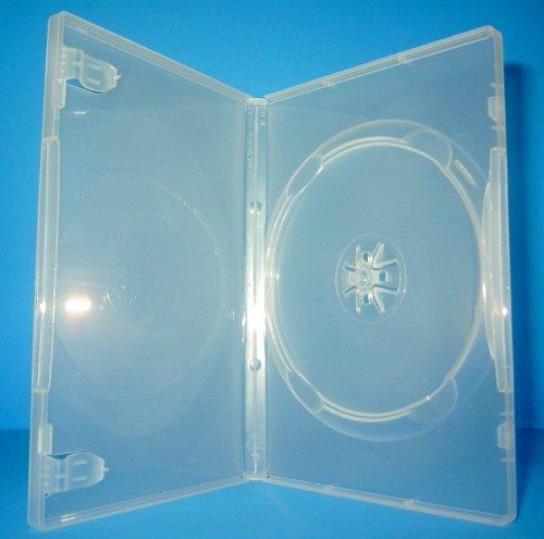 50 Stück Kronenberg24 Profi DVD Hüllen transparent klar 190x136x15mm