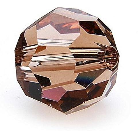 Swarovski 53285000–Perline rotonde, 8mm, 10pezzi, Vetro, light colorado topaz - Topaz 10 Pezzo