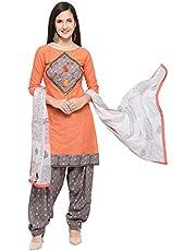 EthnicJunction Women's Cotton Patiala Style Unstitched Dress Material