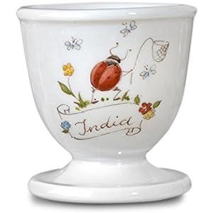 handbemalter Porzellan-Eierbecher