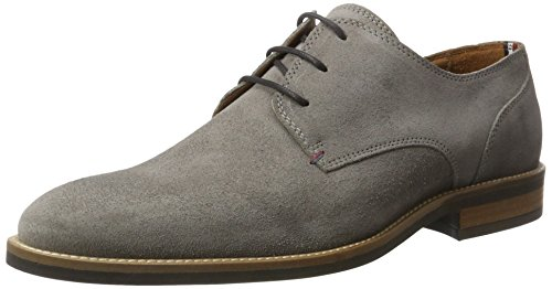 Tommy Hilfiger D2285aytona 1b, Derby Homme Gris (Light Grey 007)