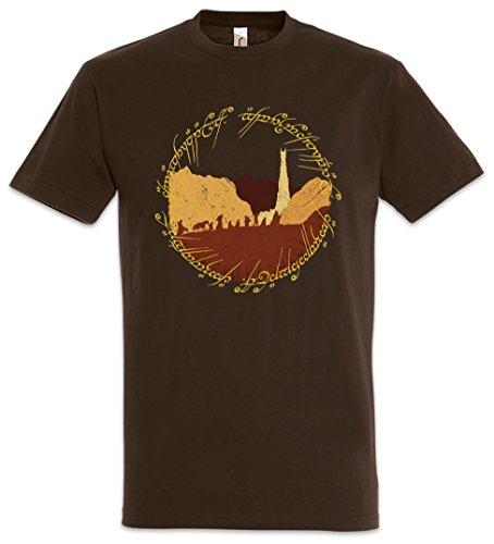 Urban Backwoods Ring Fellowship T-Shirt - Lord of Gefährten Herr The der Rings Ringe Frodo Sauron Gandalf Aragon Größen S - 5XL (L)