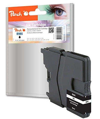 Preisvergleich Produktbild Peach Tintenpatrone schwarz, XL-Ergiebigkeit,  kompatibel zu Brother LC-985bk