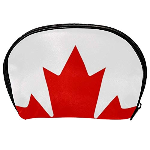 Universal Roomy Handbag Case Makeup Cosmetic Beauty Storage Bags,Facial Cleanser Skincare Kit Pouch Canada Flag Print,Portable Electronics Accessories Organizer