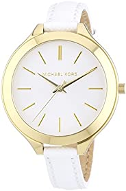 Michael Kors Runway Women's White Dial Leather Band Watch - MK