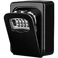 Diyife Key Lock Box, [Versión actualizada] [Montado en la pared] Llave combinada Caja de bloqueo de almacenamiento seguro para el hogar Garaje Escuela Llaves de repuesto de la casa