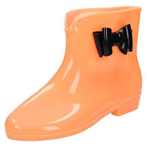 Spot On Womens/Ladies Glow in The Dark Side Bow Ankle Wellington Boots