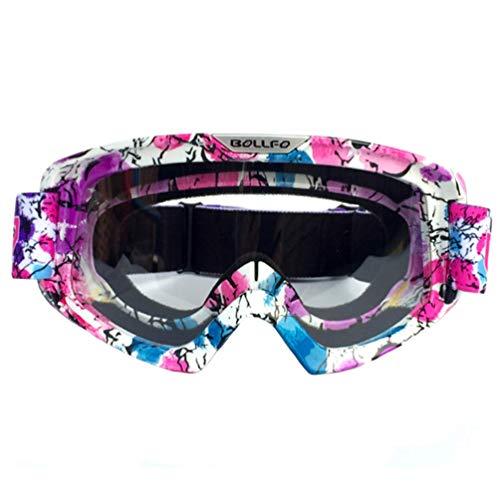 LCCYJ Unisex Motocross Aviator Ski Motorrad Roller Brille Retro Sonnenbrille Helmbrille UV-Strahlen,08