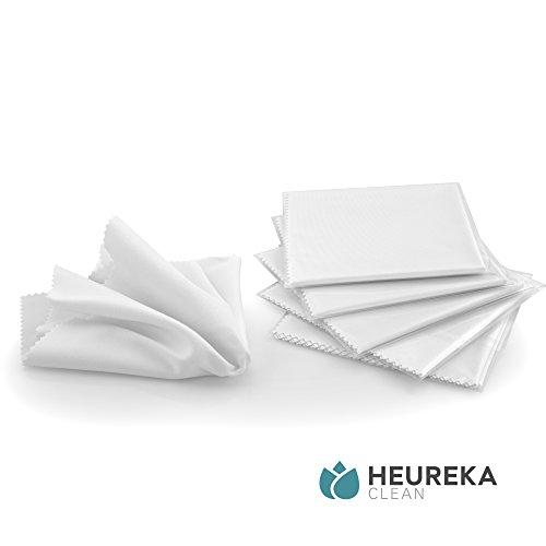 Heureka® Brillenputztücher aus Mikrofaser - Profi Reinigungstücher für empfindliche Oberflächen (5er Pack)