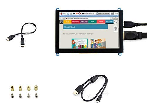 Waveshare Capacitive Touch 5inch Raspberry pi LCD HDMI Display Module 800 * 480 High Resolution HDMI Interface Screen Supports Multi Mini-PCs Multi Systems - Screen-möbel