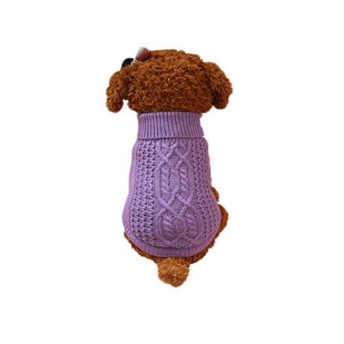 Haustier Wolle Pullover für Winter, Hmeng Solid Kapuzenpulli Kleidung Cute Puppy Hoodie Bekleidung Kostüm Mantel (XS, (Kostüme Stellen Rentier)