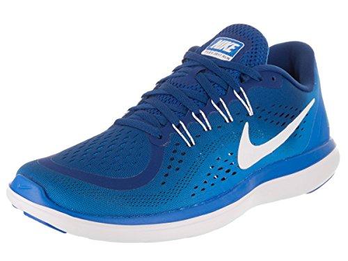 Nike Herren Flex 2017 RN Laufschuhe, Mehrfarbig (Gym White/Photo Binary Blue 403), 42.5 EU