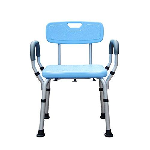 HHORD Bath Hocker/Medical Verstellbare Duschhocker/Tub Chair Und Badewanne Sitzbank Mit Anti-Rutsch-Gummi-Tipps Für Sicherheit Und Stabilität (Sitzbank Bambus Stuhl)