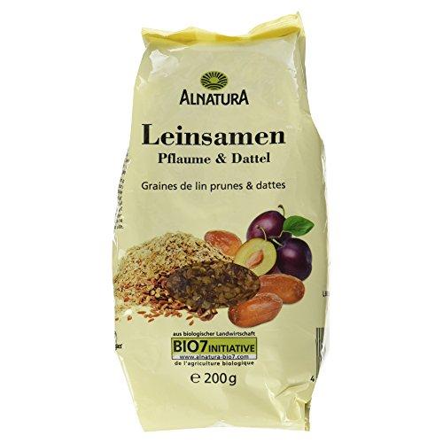 Alnatura Bio Leinsamen-Pflaume-Dattel, vegan, 6er Pack (6 x 200 g) -