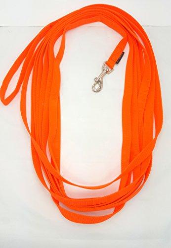 elropet Fährtenleine Schleppleine Suchleine 20m 20mm Handschlaufe orange