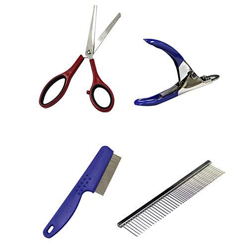 Etophigh Haustierpflege-Tools Reisetasche Kit, Pet Zubehör Essentials einschließlich Pet Comb, Nagelschere, Pet Bowl (Essentials Tool-kit)