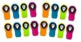 Neon Couleur en silicone prise en main sûre magnétique multi-usages Clips Neon Assorted