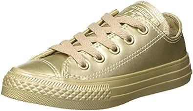 Converse Ctas Hi Metallic Synth Leather, Sneaker a Collo Alto Unisex – bambini, Argento (Silver/Silver/Silver), 35 EU