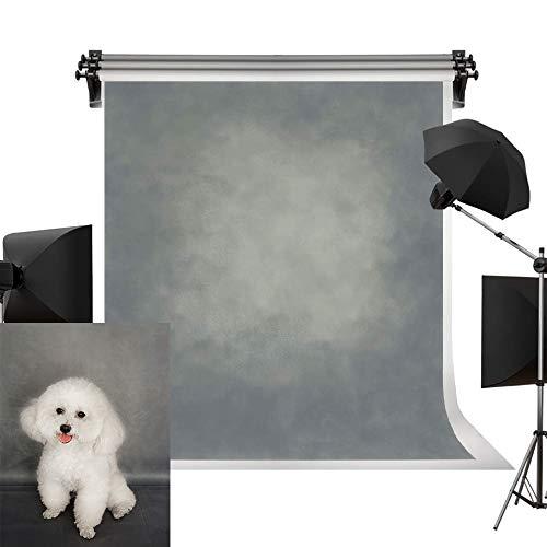 Kate Mikrofaser Fotografie Hintergrund Grau gedimmt Studio Hintergrund Fotoshooting Papier Keine Falte Foto Requisiten 1,5 x 2,2m (Das Papier Studio)