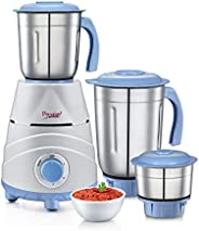 Prestige Tez Mixer Grinder, 550W, 3 Jars (Blue)