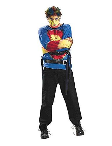 gsjacke Psycho Halloween-Kostüm Blau-Rot M / L (Zwangsjacke Halloween Kostüm)
