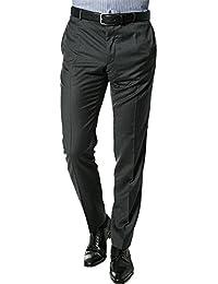 Strellson Premium Herren Hose Schurwolle Pant Unifarben, Größe: 94, Farbe: Grau