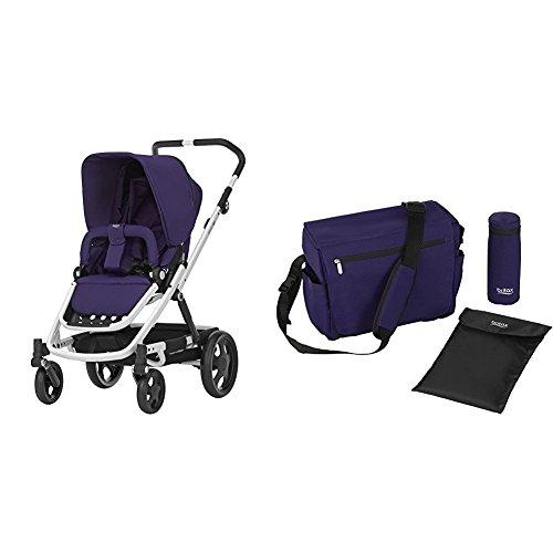 Britax GO Kinderwagen mit Sportaufsatz (6 Monate - 3 Jahre), Kollektion 2018, Mineral Purple mit passender Wickeltasche