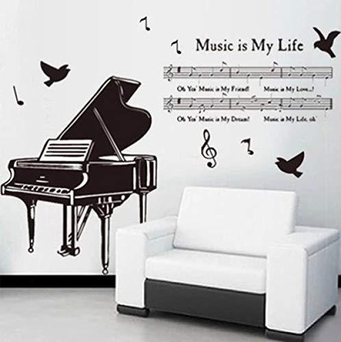 Wandaufkleber Klavier Wandaufkleber Musik Klassenzimmer Kindergarten Musik Schule Cartoon Dekoration Abnehmbare Aufkleber (Klavier-musik-dekorationen)