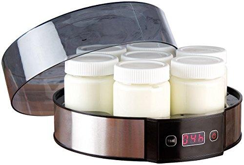 Rosenstein & Söhne Joghurtmaker: Joghurt-Maker mit Zeitschaltuhr, 7 Portionsgläser je 190 ml, 20 Watt (Jogurtbereiter) - Joghurt-gläser Glas