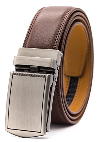 GFG Herren Gürtel,Leder Automatik Gürtel Für Herren Jeans Anzug Gürtel-3,5cm Breite-0041-140-Braun