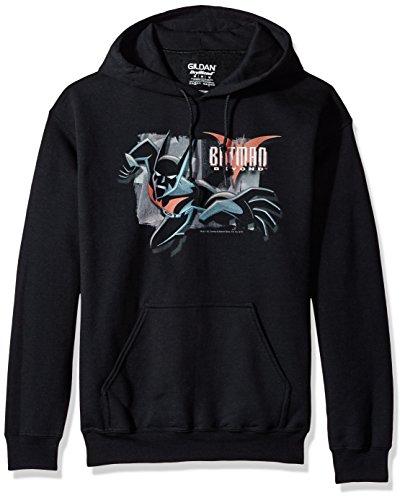Trevco Herren Batman Beyond Out of The Frame Hoodie Sweatshirt Kapuzenpulli, Black, Mittel