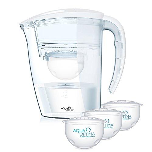 """Aqua Optima \""""Galia\"""" Tischwasserfilter mit 3x 60-Tage Filter, Halbjahrespaket"""