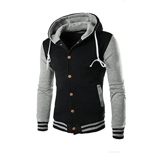 Winter Hoodie Warme Kapuzen Sweatshirt, Zolimx Herren Mantel Jacke Pullover (XL, Grau)