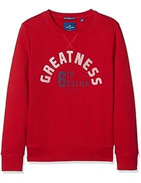 TOM TAILOR Kids Sporty Retro Sweatshirt, Sudadera para Niños
