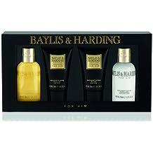 Baylis y Harding Negro Pimienta y Ginseng 4 piezas Set de regalo (gel de ducha y loción corporal regalo set), 1er Pack (1 x 1 pieza)