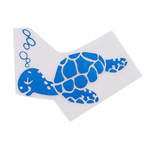 (JOOFFF Auto Aufkleber Cartoon Schildkröte Aufkleber Dekor Körper Windschutzscheibe Seitenaufkleber Reflektierende Auto Aufkleber für Auto SUV, blau)